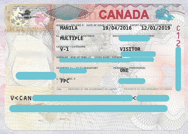 Multiple-entry Tourist Visa to CANADA (UPDATED: 2017